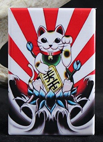 Waving Lucky Cat Refrigerator Magnet