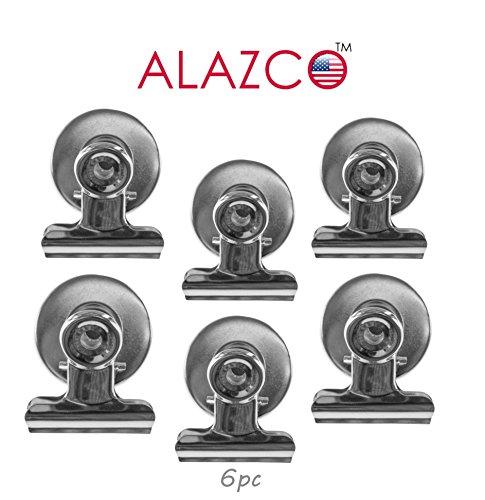6pc ALAZCO Refrigerator Magnet Clip 1 wide Magnet Clip