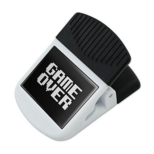 Game Over Gamer Pixel Font Geek Refrigerator Fridge Magnet Magnetic Hanging Hook Note Snack Clip