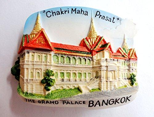 The Grand Palace Chakri Maha Prasat Bangkok Thailand Fridge Magnets Of Place 3D Handmade Resin Color Handpainted Souvenir Gift Home Decor 20 x 25 Multi-coloured