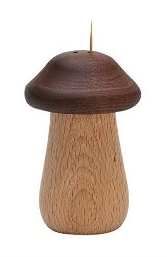 Wooden Toothpick Holder Japanese Style Simple Creative Mushroom Toothpick Holder