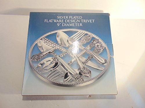Godinger Silver Art Silver-plated FLATWARE DESIGN Decorative Trivet
