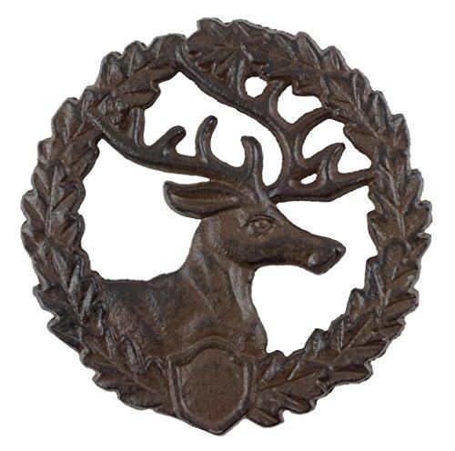 Rustic Style Winter Deer Decorative Cast Iron Trivet