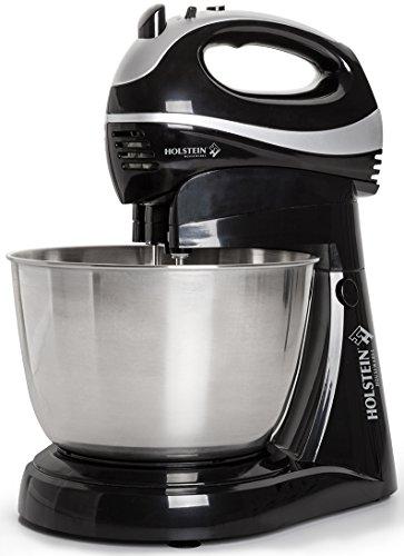 Holstein Housewares HH-0914901SS 5 Speed Hand Mixer with Pedestal - BlackSilver