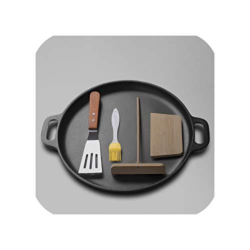 30CM Non-stick Pancake Maker Cast Iron Frying Pan Griddle Roasting Pans Omelet Crepe Pan Kitchen Cooking Pot30CM
