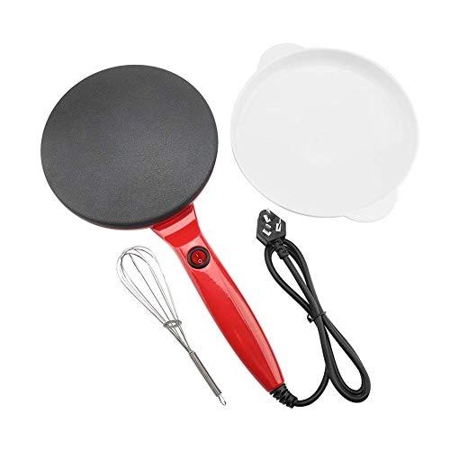 Crepe Maker Pancake MakerSundoco Electric Round Non-Stick Pancake Maker Crepe Machine Frying Pan Pizza Baking Tools 110VRed