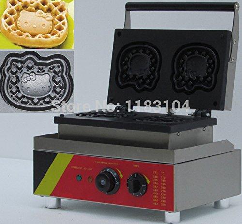 220v Electric Belgium Belgian Hello Kitty Waffle Maker Machine Baker Iron Pan