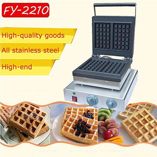 Hanchen Instrument 2pces FY-2210 Commercial Belgian Waffle Maker Machine Baker Iron Fryer220V