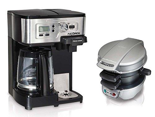 Hamilton Beach 49983  25475 12Cup CoffeeMaker wBreakfast Sandwich Maker Bundle