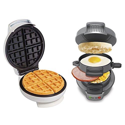 Proctor Silex Belgian Waffle Maker Breakfast Sandwich Maker  25475  26070