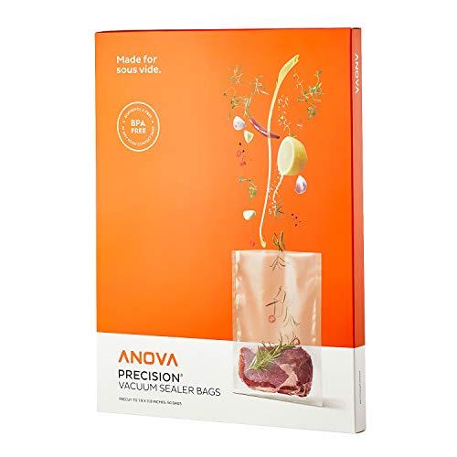 Anova Culinary ANVB01 Anova Pre-Cut Sous Vide Vacuum Sealer bags One size Clear