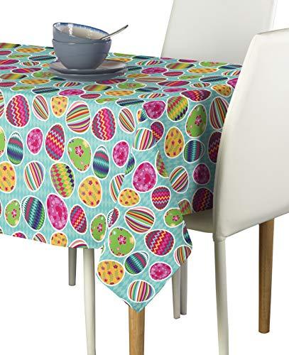 Vibrant Easter Eggs Blue Milliken Signature Tablecloths - Assorted Sizes 60x84