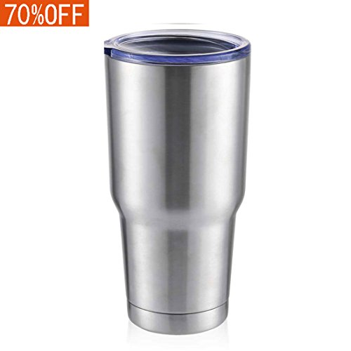 Masvis 30oz Tumbler Vacuum Insulated Stainless Steel Coffee Cup with Lid Straws - Travel Mug Works Great for Ice Drink Hot Beverage