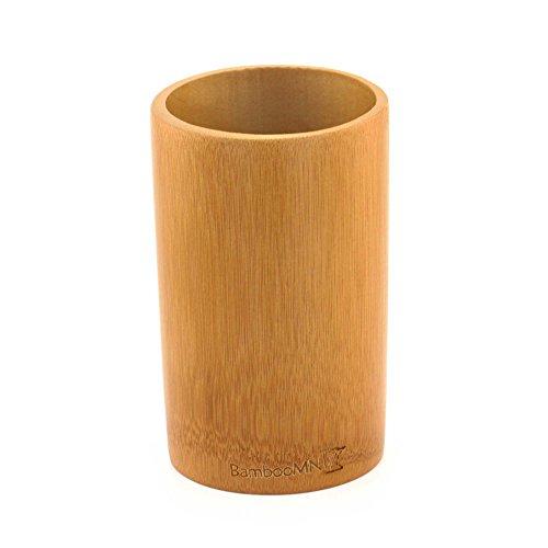 BambooMN - Bamboo Kitchen Utensil Holder - Carbonized Brown - 1 Piece