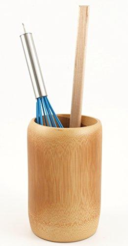 Caramelized Bamboo Utensil Holder Crock