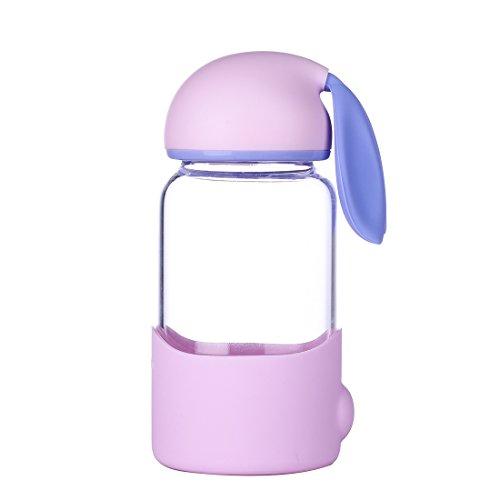 QILEYIN sb60286 340ML Mini Portable Bottle Vacuum Insulated Double Walled Glass Travel Mug Cute Rabbit Travel thermos Leak-proof Mug
