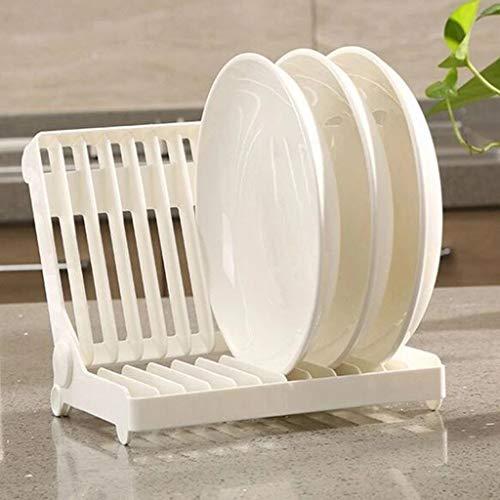 USVSU Kitchen Dish Drying Rack Foldable Plate Holder Plastic Drainer Space Saving Multipurpose Storage Holder