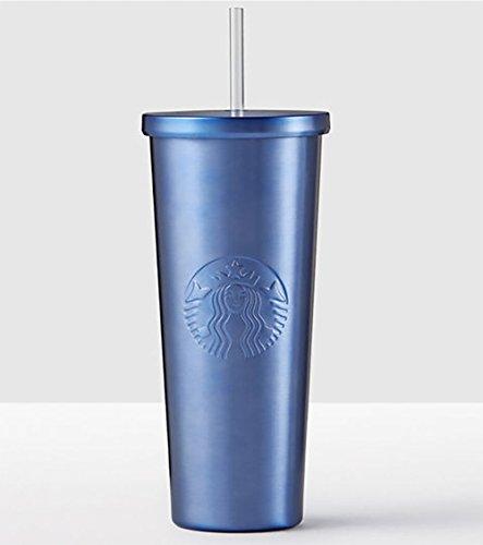 Starbucks Midnight Blue Stainless Steel 24 fl oz Cold Cup Tumbler Travel Mug