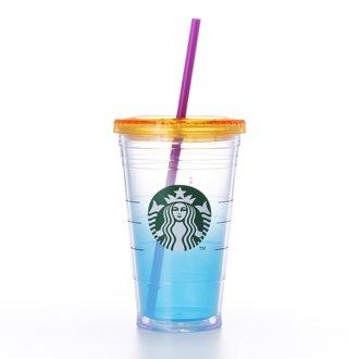 Starbucks logo cold cup tumbler Bright Blue