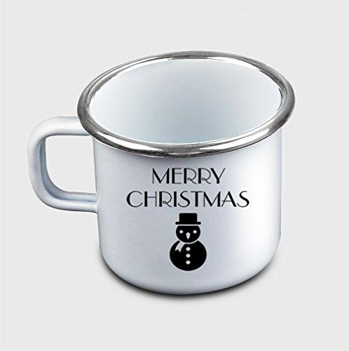 Style In Print Merry Christmas Funny Holidays 3 Coffee Tea Metal Enamel Camping Mug
