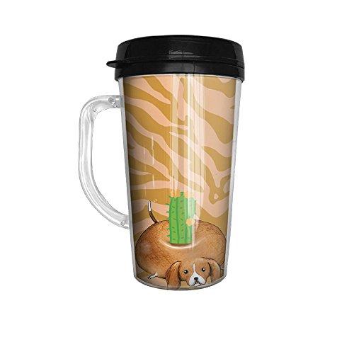 Beagle Cactus Cute Tumbler Insulated Portable Coffee Cup-Travel Mug152 Oz