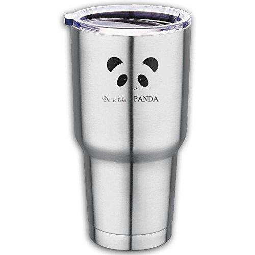 Panda Cute Looks Yu Imahe Simplicity Stainless Steel Vacuum Insulation Coffee Journey Tumbler Antibacterial Hygiene Car Cup
