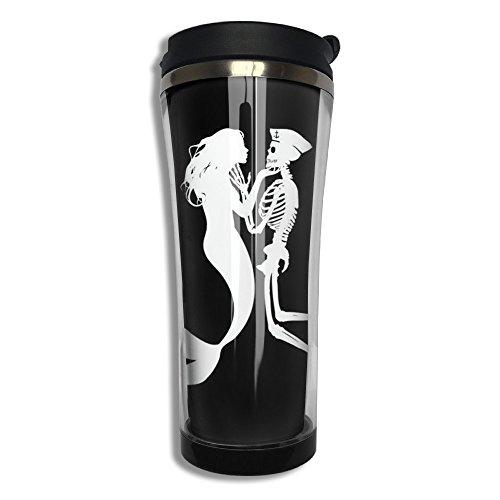 Mermaid And Skull Love Stainless Steel Vacuum Coffee Mug Starbucks Mug Thermal Mug Travel Tumbler Water Bottle