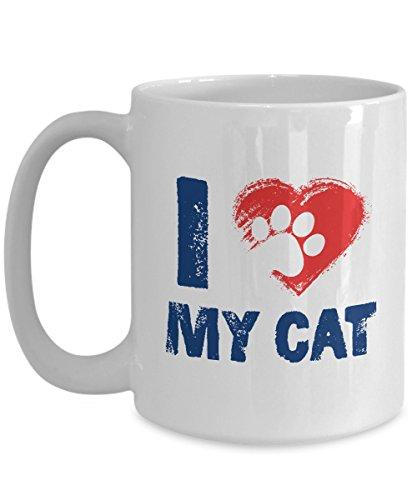 I Love My Cat Coffee Mug Size 15oz