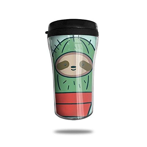 YDZJJY Cactus Sloth Cute Mini Travel Cartoon Stainless Steel Tea Coffee Mug Size 250ml