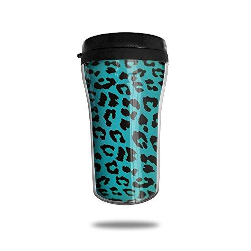 YDZJJY Leopard Print Animal Green Mini Travel Cartoon Stainless Steel Tea Coffee Mug Size 250ml