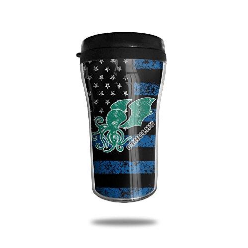 YDZJJY Octopus Thin Blue Line Mini Travel Creative Stainless Steel Tea Coffee Mug Size 250ml