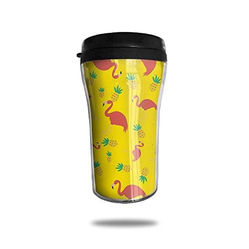 YDZJJY Pineapple Flamingos Mini Travel Creative Stainless Steel Tea Coffee Mug Size 250ml