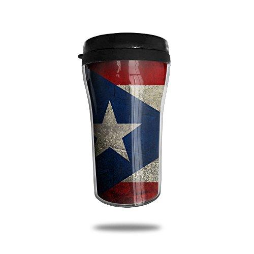 YDZJJY Puerto Rico Flag Mini Travel Cute Stainless Steel Tea Coffee Mug Size 250ml