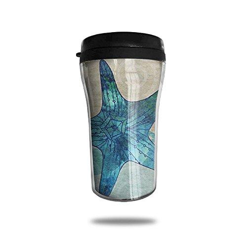YDZJJY Starfish Beach Mini Travel Cartoon Stainless Steel Tea Coffee Mug Size 250ml