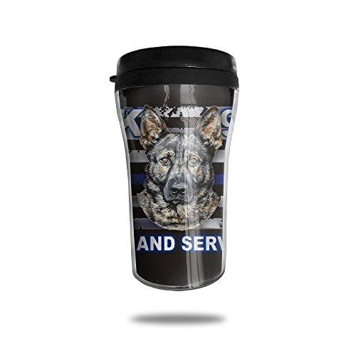 YDZJJY Thin Blue Line Police Dog Mini Travel Cute Stainless Steel Tea Coffee Mug Size 250ml