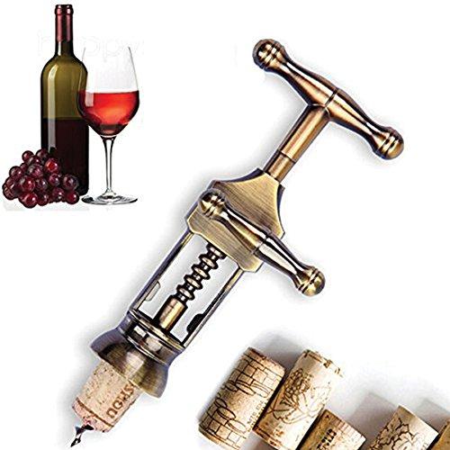 Corkscrew Wine Opener and Bottle Opener- Zinc Alloy Wine Opener Classic Antique Metal Corkscrew Wine Opener
