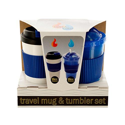 2-Piece 16-Ounce Hot Cold Travel Mug Tumbler Set