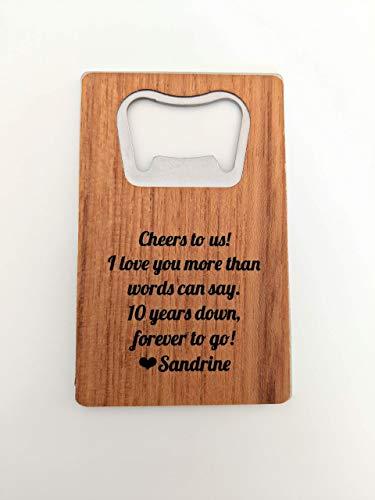 Anniversary Gift for Husband Wallet Bottle Opener Credit Card Bottle Opener Beer Bottle Opener