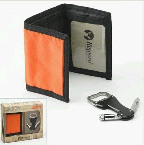 Reward Original Trifold Wallet with Bottle Opener Multi-Tool Set - Orange by Reward Original