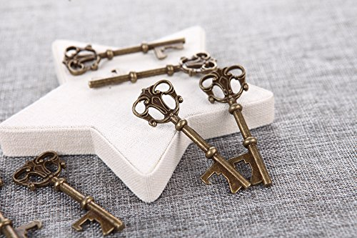 40x Key Shaped Bottle Openers Wedding Favors Antique Rustic Decoration 3 Inch