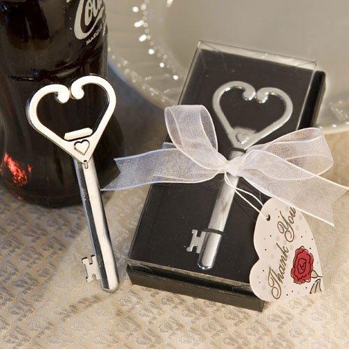 Heart Accented Key Bottle Opener Favors SET OF 12