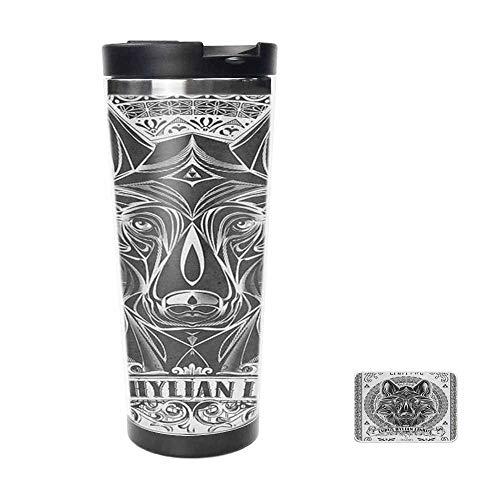 Legend of Zelda Twilight Princess Wolf Link Line Artly Travel Mug for Coffee Tea,Drinking Cup Coffee Mug,Thermos Cup 16oz