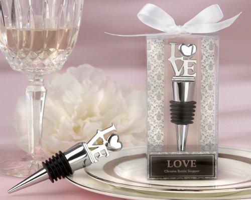 LOVE Chrome Bottle Stopper Set of 12 - Party Favors