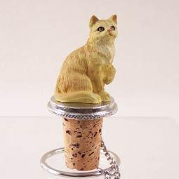 Red Shorthaired Tabby Cat Bottle Stopper Set of 6