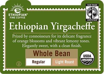 Green Mountain Coffee Roasters Organic Coffee Ethiopian Yirgacheffe Whole Bean 10 oz Pack of 5