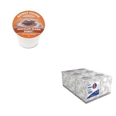 KITGMT6722KIM21271 - Value Kit - Green Mountain Coffee Roasters Chocolate Glazed Donut Coffee K-Cups GMT6722 and KIMBERLY CLARK KLEENEX White Facial Tissue KIM21271
