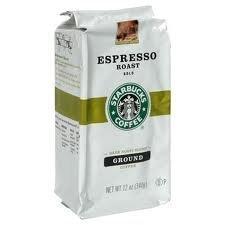 PACK OF 6 - Starbucks Espresso Roast Dark Ground Coffee 120 OZ