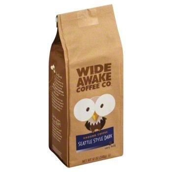 Wide Awake Coffee Seattle Style Dark Ground Coffee 12 Ounce