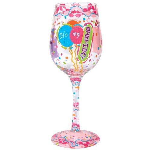Lolita Its My Birthday Painted Wine Glass Gift