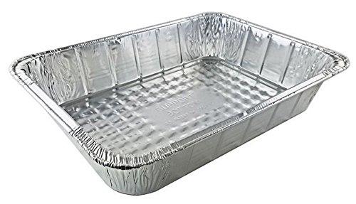 Handi-Foil 14 x 10 x 3 Deep Oblong Lasagna Casserole Bbq Aluminum Pan pack of 10